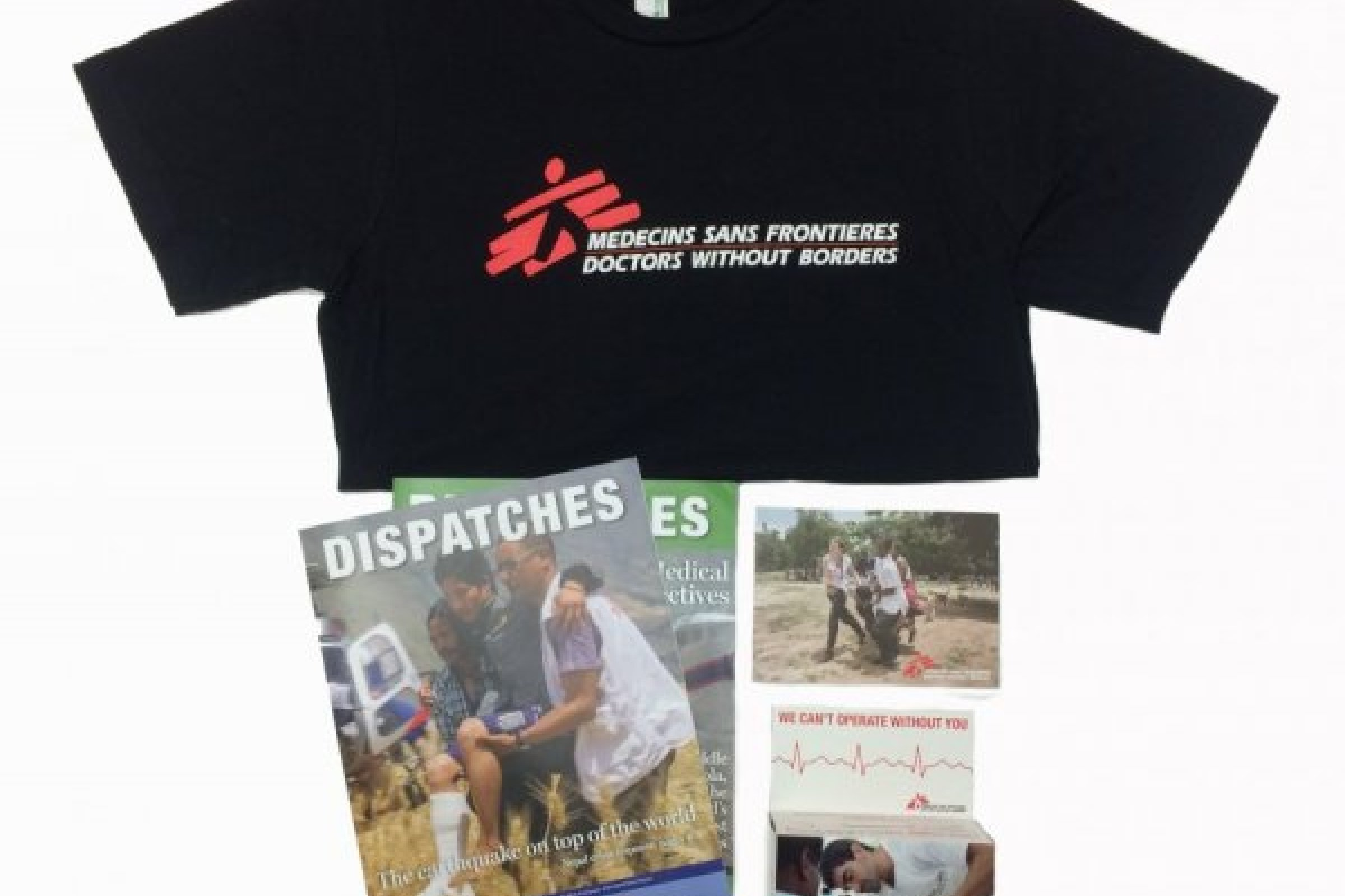 MSF merchandise available for university groups